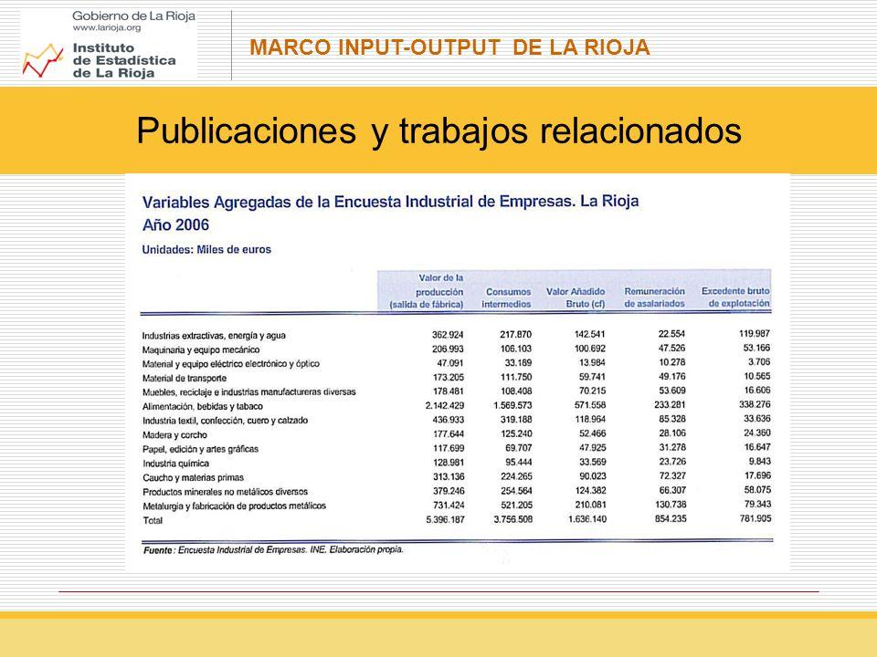 MARCO INPUT-OUTPUT DE LA RIOJA Cuentas de la economía Tablas input-output El Sistema Europeo de Cuentas (SEC)