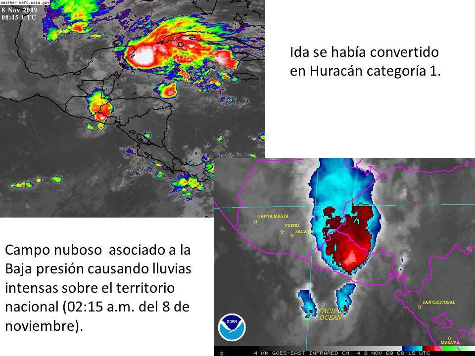 Ida se había convertido en Huracán categoría 1.