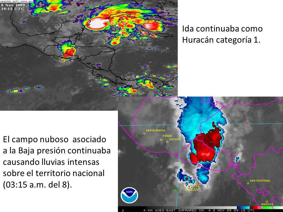Ida continuaba como Huracán categoría 1.