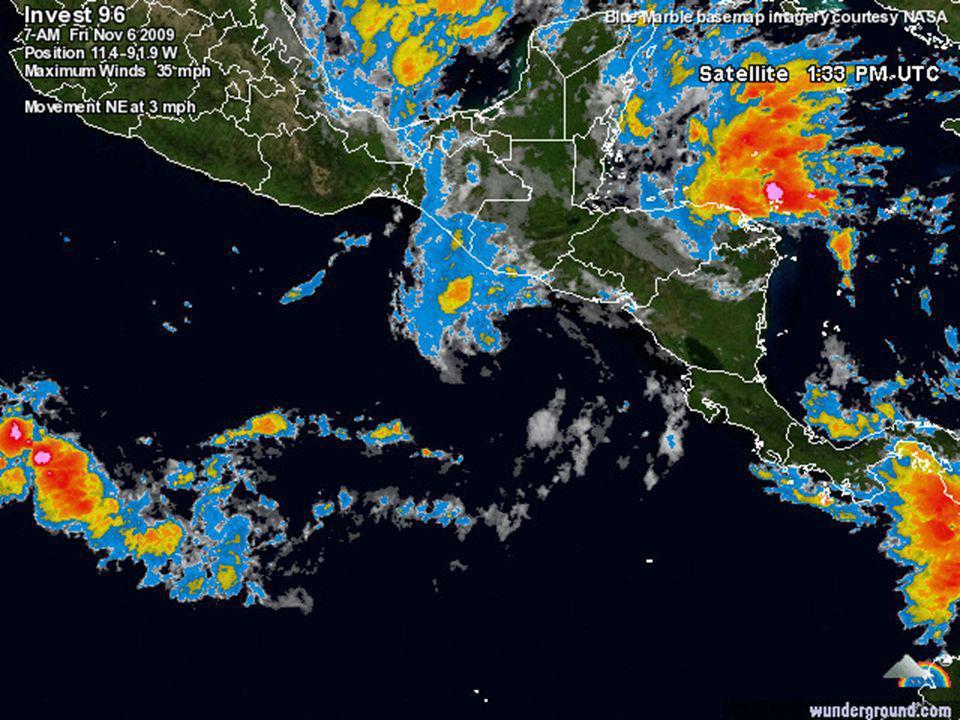 IDA se había degradado y el viernes 6 de noviembre era Depresión Tropical.
