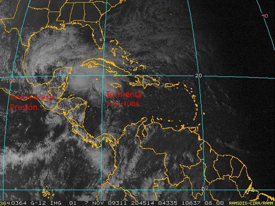 Tormenta Tropical IDA Sistema de Baja Presión.