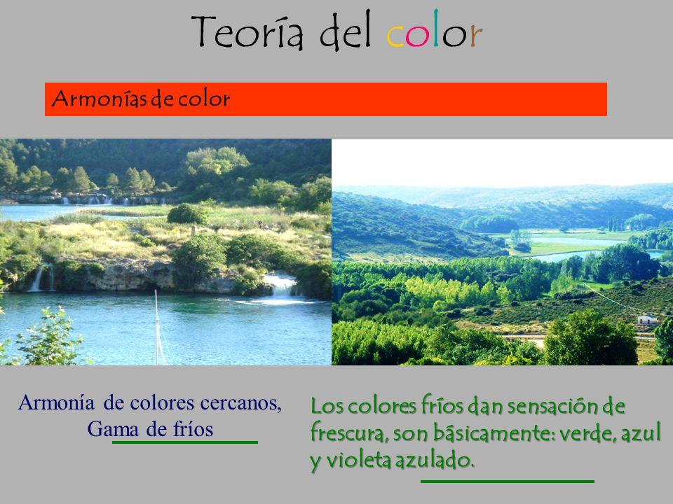 Teoría del color Las gamas cromáticas dan lugar a armonías de color A la hora de elegir el color para una composición, debemos hacerlo con un determin