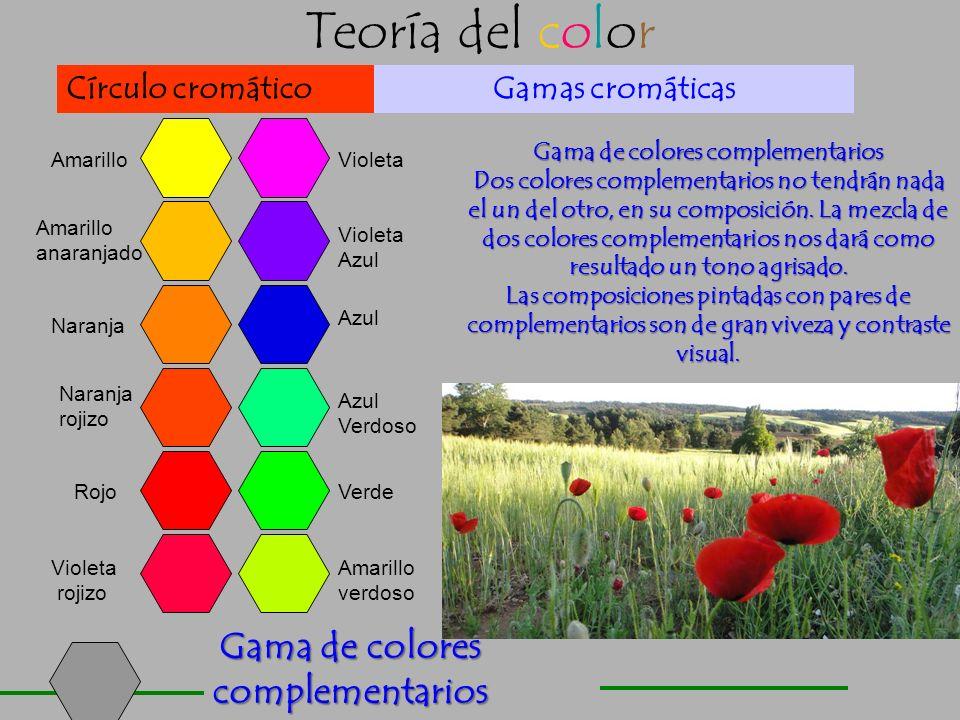 Teoría del color Armonías de color Los colores fríos dan sensación de frescura, son básicamente: verde, azul y violeta azulado. Armonía de colores cer