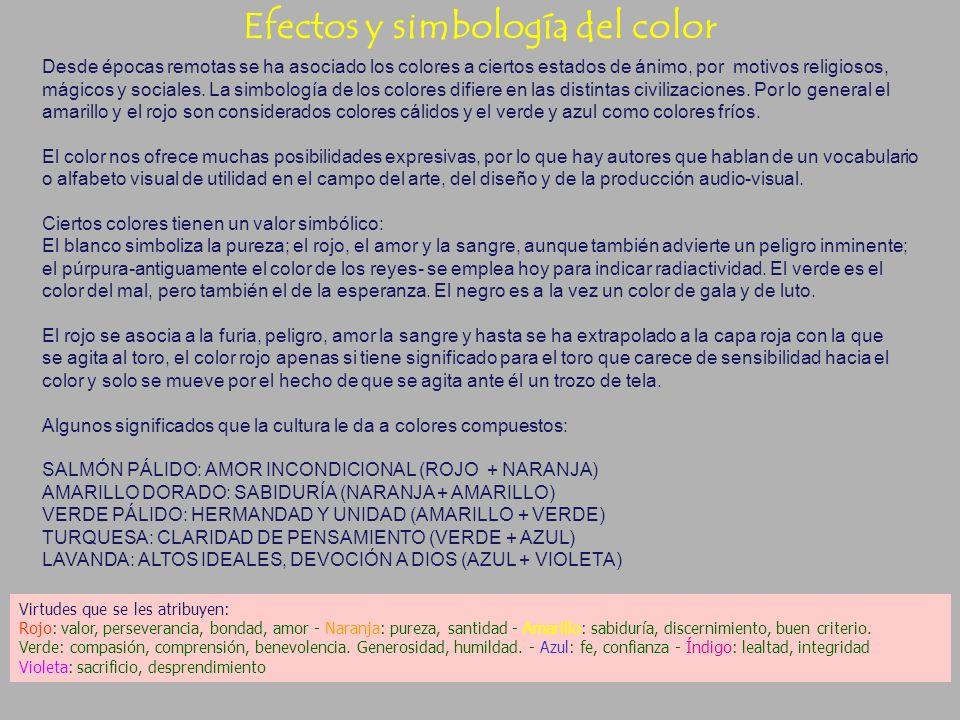 Efectos psicológicos del color Efectos psicológicos del color (Algunos efectos están por demostrar.) GRIS: Es el color de la renunciación, pero tambié