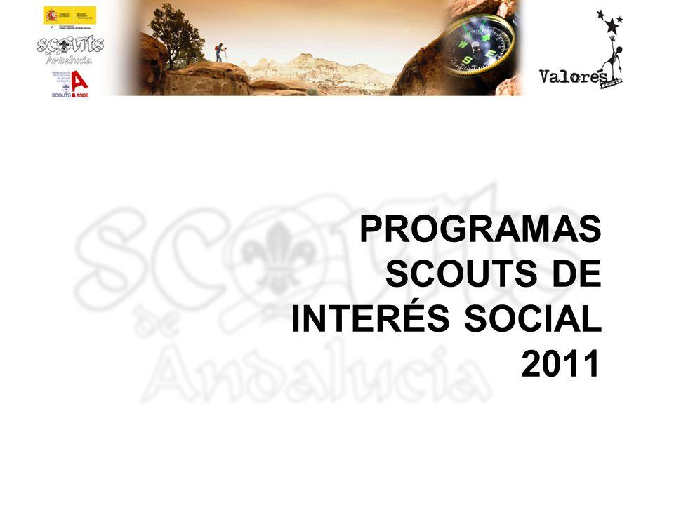 PROGRAMAS SCOUTS DE INTERÉS SOCIAL 2011