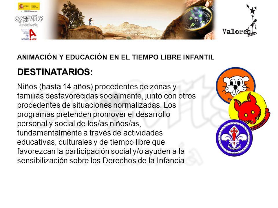 ANIMACIÓN Y EDUCACIÓN EN EL TIEMPO LIBRE INFANTIL Sesión de cuenta-cuentos Taller de manualidades: barro Video-forum