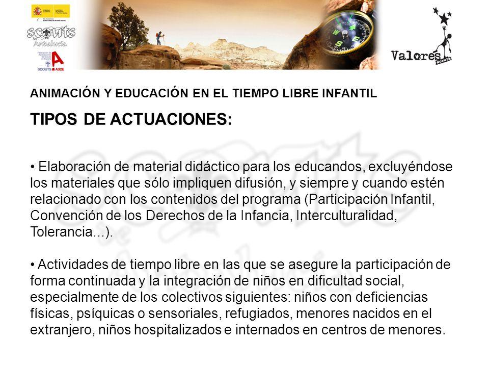 ANIMACIÓN Y EDUCACIÓN EN EL TIEMPO LIBRE INFANTIL SI BUSCAS INSPIRACIÓN… PROPUESTAS 1.ACTIVIDADES DE TIEMPO LIBREACTIVIDADES DE TIEMPO LIBRE 2.ACTIVIDADES DIRIGIDAS A LA COMUNIDADACTIVIDADES DIRIGIDAS A LA COMUNIDAD 3.ACTIVIDADES REALIZADAS CON OTRAS ENTIDADESACTIVIDADES REALIZADAS CON OTRAS ENTIDADES 4.CENTROS DE TIEMPO LIBRECENTROS DE TIEMPO LIBRE 5.ELABORACIÓN DE MATERIAL DIDÁCTICOELABORACIÓN DE MATERIAL DIDÁCTICO FOTOGRAFÍAS