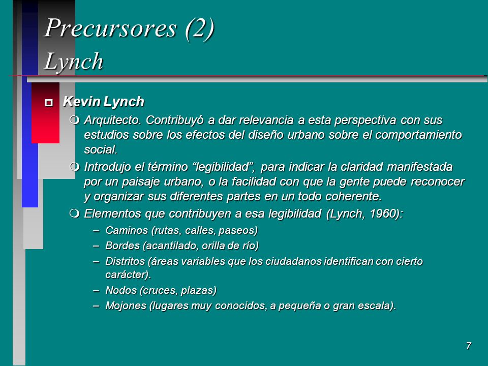 7 Precursores (2) Lynch Precursores (2) Lynch p Kevin Lynch mArquitecto.