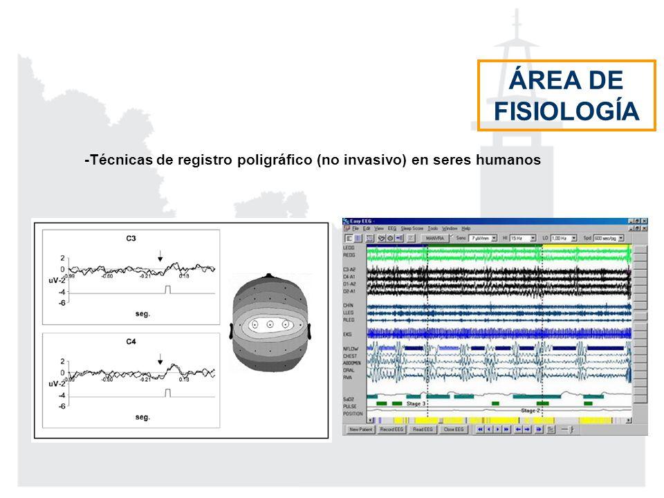 -Técnicas de registro poligráfico (no invasivo) en seres humanos ÁREA DE FISIOLOGÍA