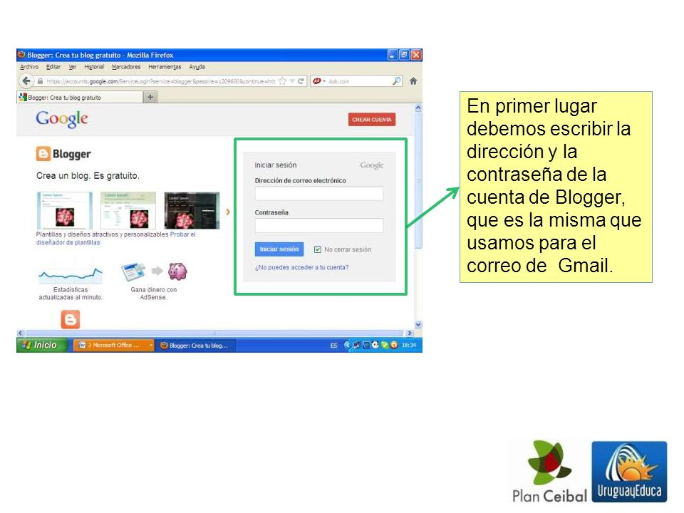 Accedemos al escritorio de Blogger Para comenzar a editar o subir materiales al blog debemos pulsar sobre el botón Editar.