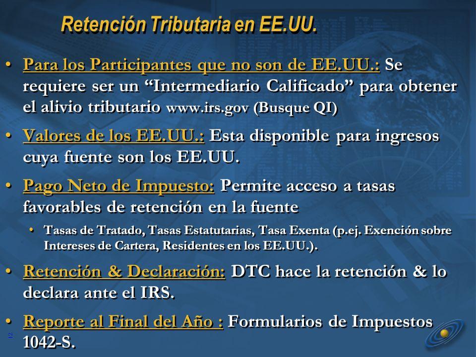 12 Retención Tributaria en EE.UU.
