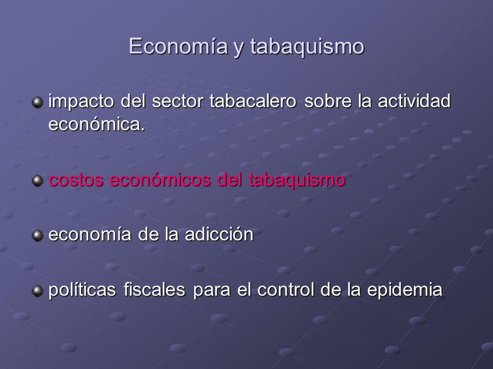 Economía y tabaquismo impacto del sector tabacalero sobre la actividad económica.