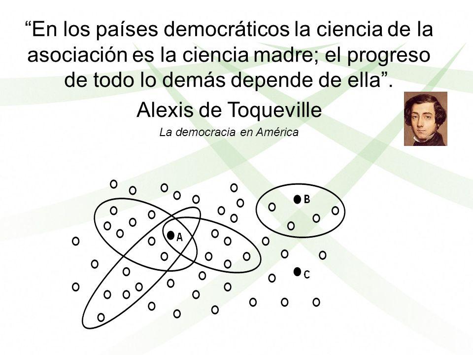 En los países democráticos la ciencia de la asociación es la ciencia madre; el progreso de todo lo demás depende de ella. Alexis de Toqueville La demo