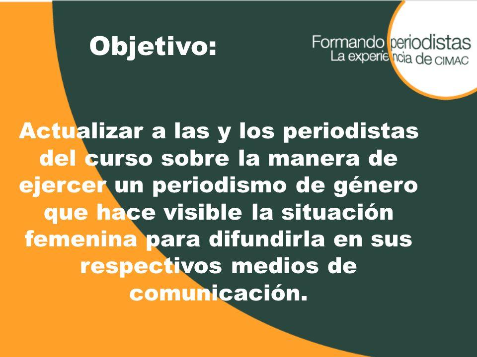 Nuestras/os compañeras/os y colegas Compañeras y compañeros integrantes de la Red Nacional de Periodistas (900 contactos en la República Mexicana)