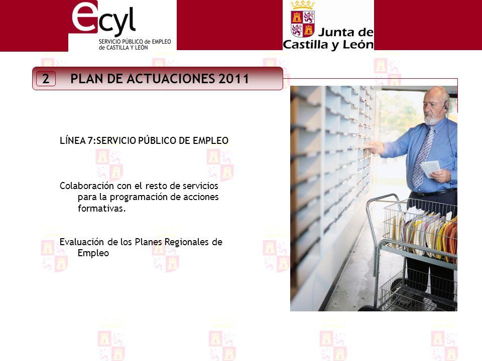 PLAN DE ACTUACIONES 2011 2 LINEA 5: COLECTIVOS CON PROBLEMAS DE INSERCIÓN Estudio sobre el mercado de trabajo de las personas discapacitadas en Castilla y León..