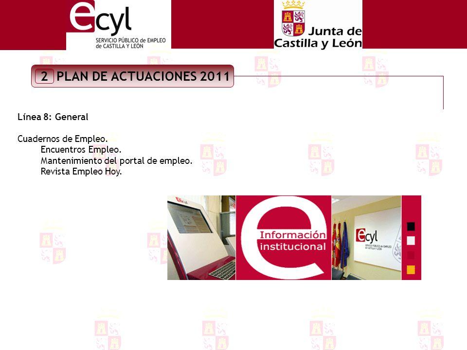 PLAN DE ACTUACIONES 2011 2 LÍNEA 7:SERVICIO PÚBLICO DE EMPLEO Colaboración con el resto de servicios para la programación de acciones formativas.