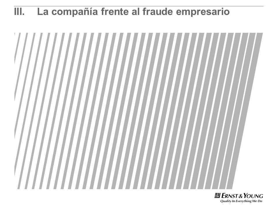 III.La compañía frente al fraude empresario