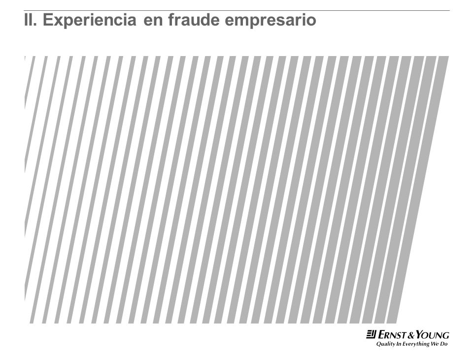 II.Experiencia en fraude empresario