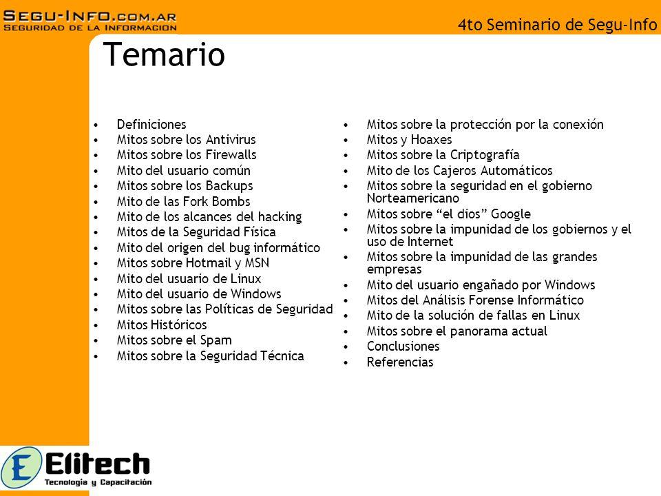 4to Seminario de Segu-Info Definiciones