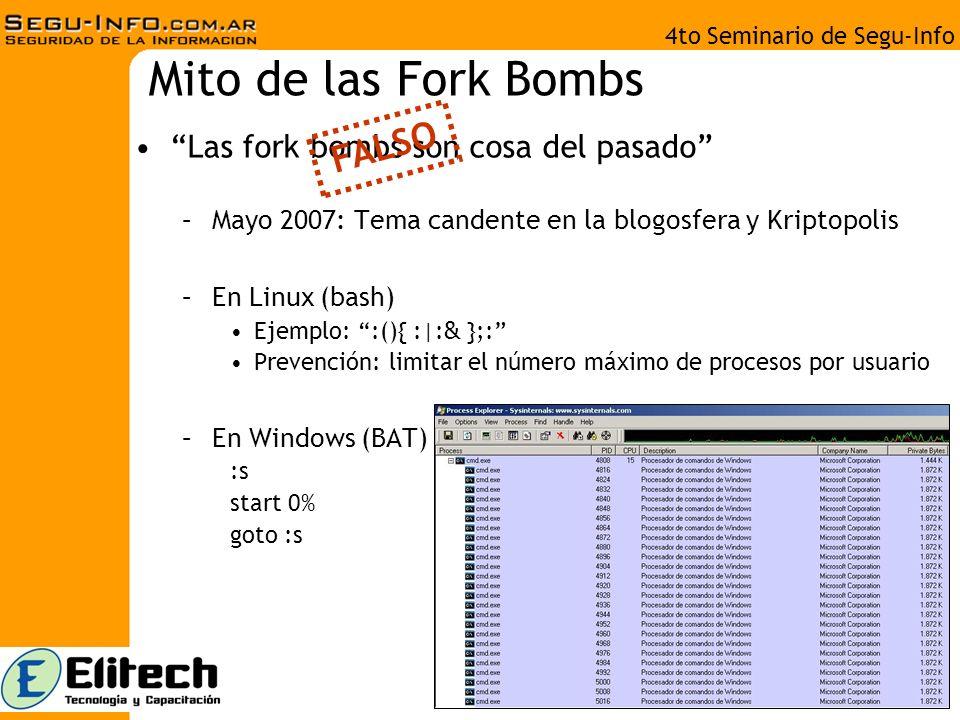 4to Seminario de Segu-Info Mito de los alcances del hacking Todo lo que sea electrónico es hackeable –Enero 2008 Grave fallo en routers hogareños.