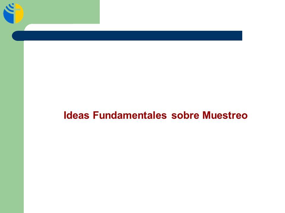Ideas Fundamentales sobre Muestreo