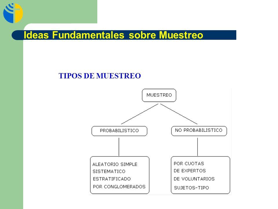 TIPOS DE MUESTREO Ideas Fundamentales sobre Muestreo