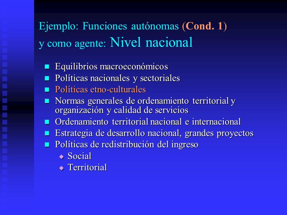 Ejemplo: Funciones autónomas (Cond.