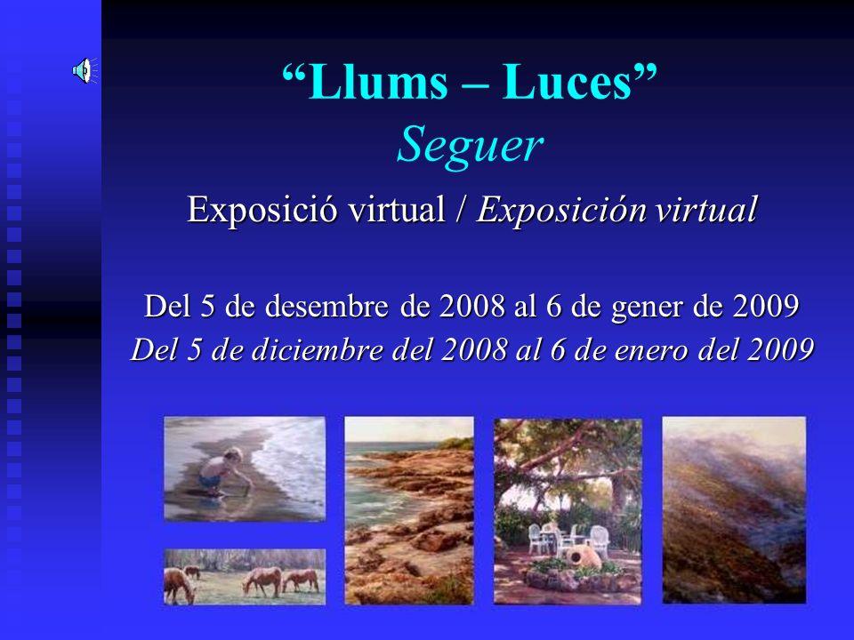 Llums – Luces Seguer Exposició virtual / Exposición virtual Del 5 de desembre de 2008 al 6 de gener de 2009 Del 5 de diciembre del 2008 al 6 de enero del 2009