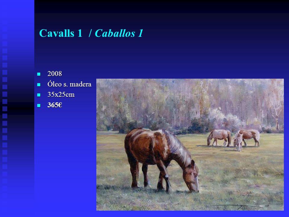 Cavalls 1 / Caballos 1 2008 2008 Óleo s. madera Óleo s. madera 35x25cm 35x25cm 365 365