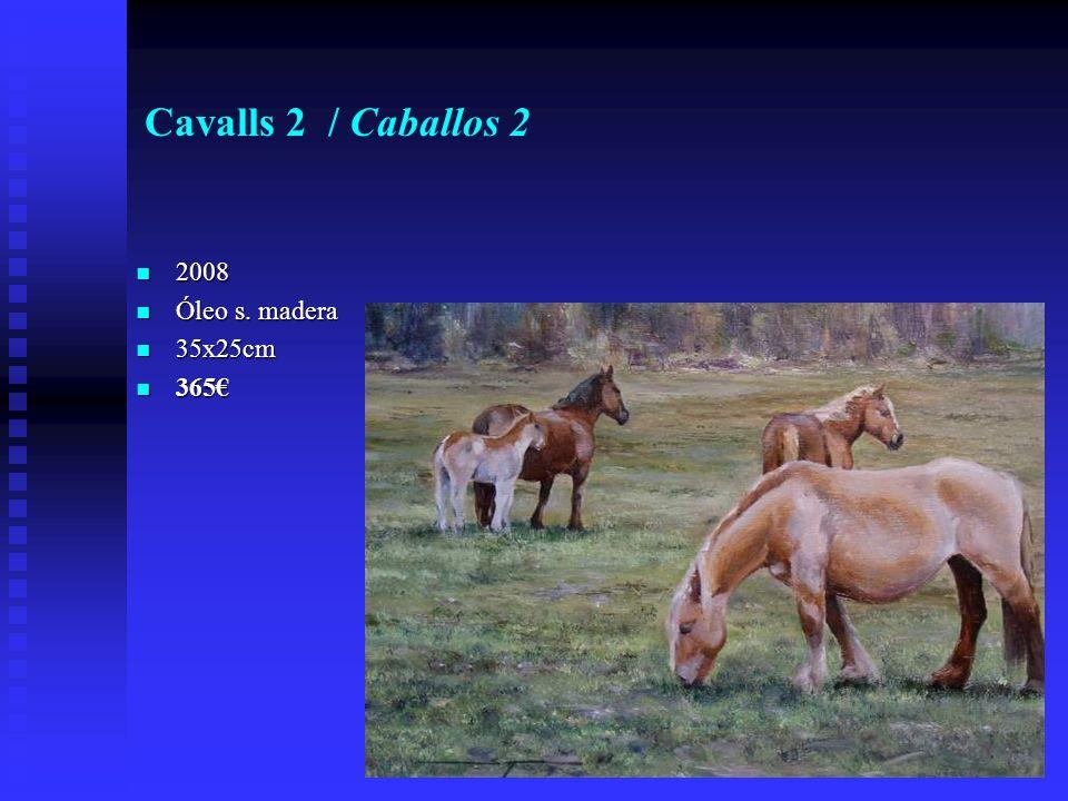 Cavalls 2 / Caballos 2 2008 2008 Óleo s. madera Óleo s. madera 35x25cm 35x25cm 365 365