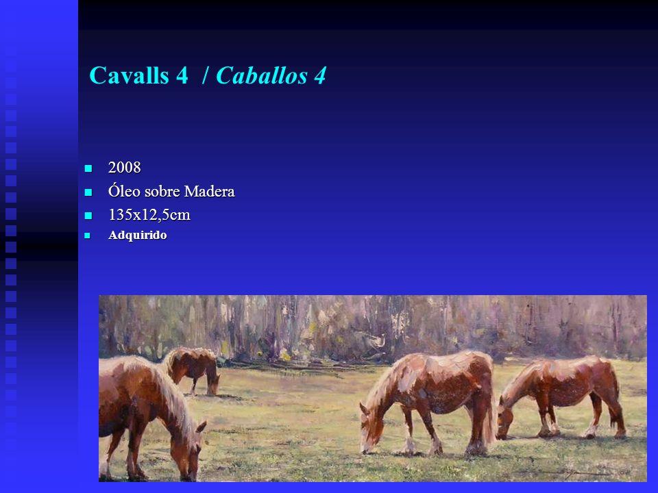 Cavalls 4 / Caballos 4 2008 2008 Óleo sobre Madera Óleo sobre Madera 135x12,5cm 135x12,5cm Adquirido Adquirido
