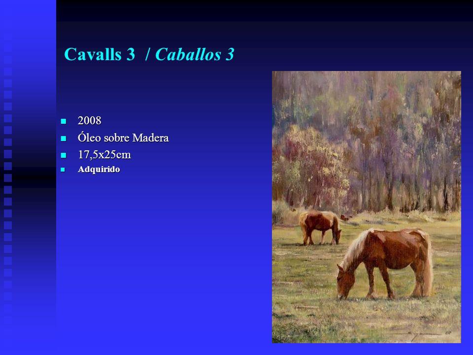Cavalls 3 / Caballos 3 2008 2008 Óleo sobre Madera Óleo sobre Madera 17,5x25cm 17,5x25cm Adquirido Adquirido