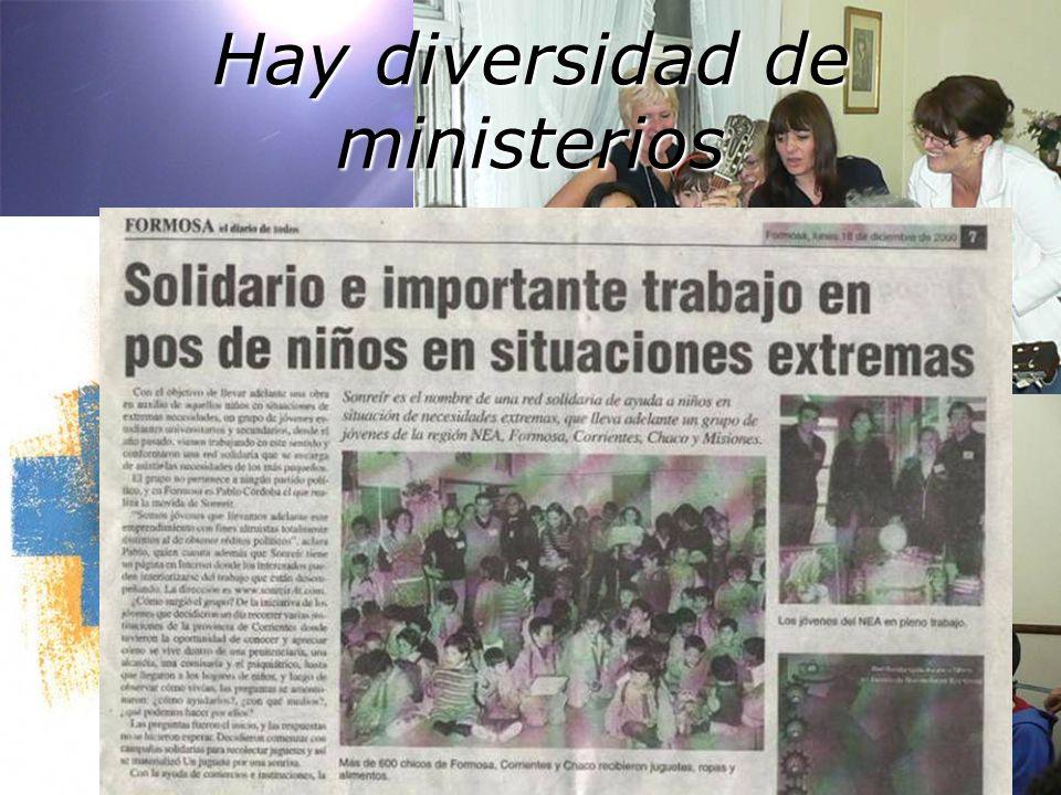 Escucha … M ú sica … Solidaridad … Eucarist í a … Hay diversidad de ministerios