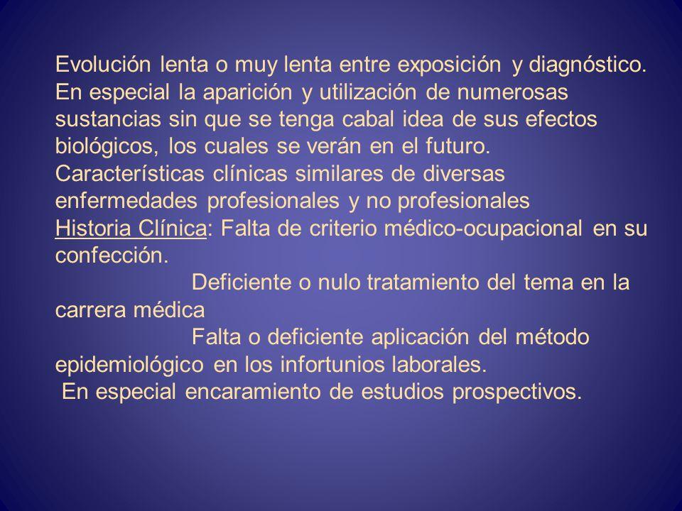 06/03/201422 El incorrecto diagnóstico de las Enfermedades Profesionales En la etiología: Factor etiológico múltiple no específico de algunas enfermed