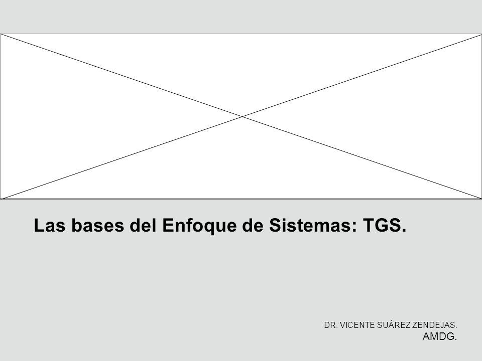 Las bases del Enfoque de Sistemas: TGS. DR. VICENTE SUÁREZ ZENDEJAS. AMDG.