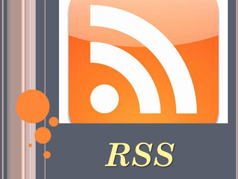 ¿Q UÉ ES .¿E N QUE CONSISTE . RSS es un formato de una fuente web.