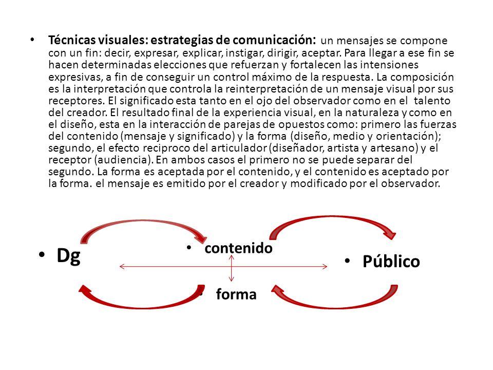 El mensaje y el método El proceso de composición es el paso mas importante en la resolución del problema visual.