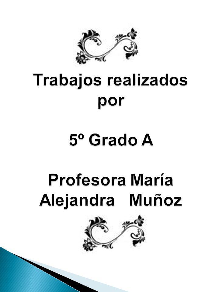 Trabajos realizados por 5º Grado B Profesora Carolina Ortiz