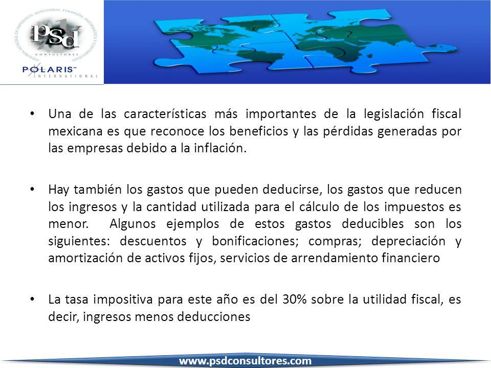 Una de las características más importantes de la legislación fiscal mexicana es que reconoce los beneficios y las pérdidas generadas por las empresas