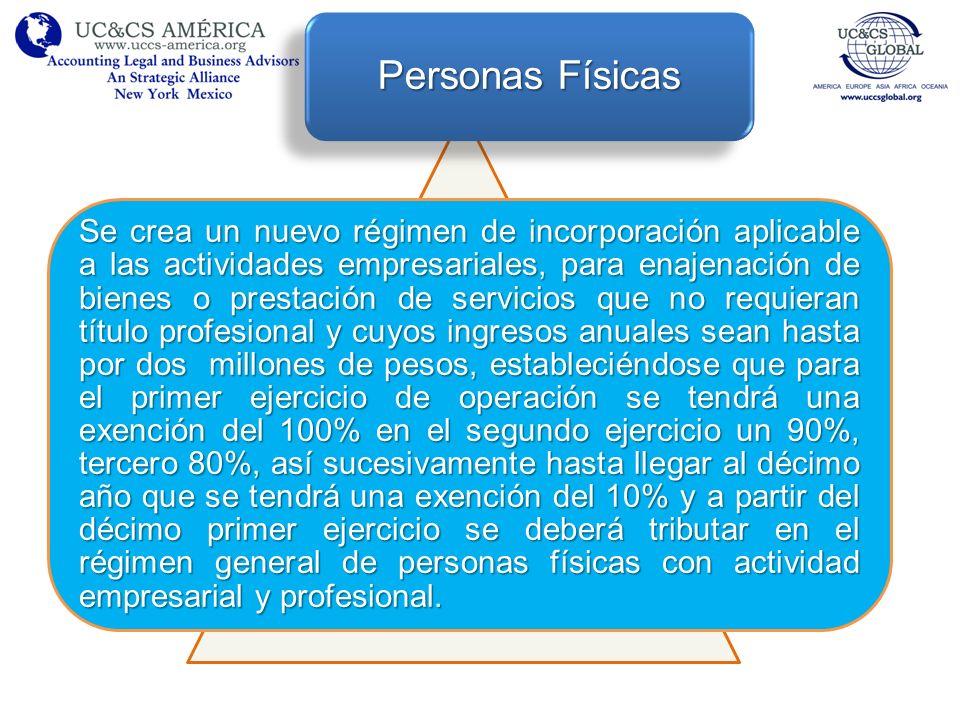 Se crea un nuevo régimen de incorporación aplicable a las actividades empresariales, para enajenación de bienes o prestación de servicios que no requi