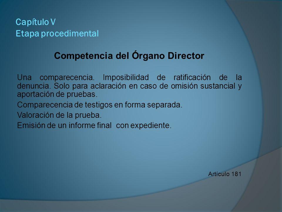Capítulo V Etapa procedimental Requisitos indispensables en la Resolución Inicial Encabezado: tipo, fin y carácter del procedimiento, número expediente, lugar, hora y fecha.