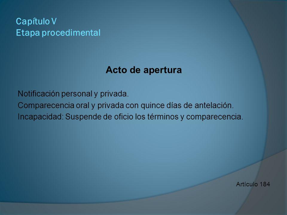 Capítulo V Etapa procedimental Derechos del denunciante con carácter de ofendido.