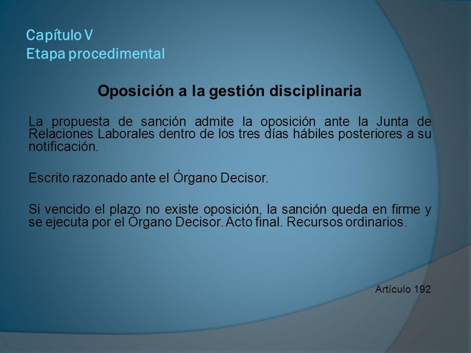 Capítulo V Etapa procedimental Pronunciamiento de la Junta de Relaciones Laborales Deberá dictarse en el plazo de cinco días hábiles a partir del recibo del expediente.