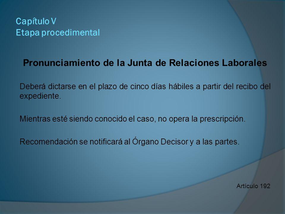 Capítulo V Etapa procedimental Las sanciones Amonestación escrita.