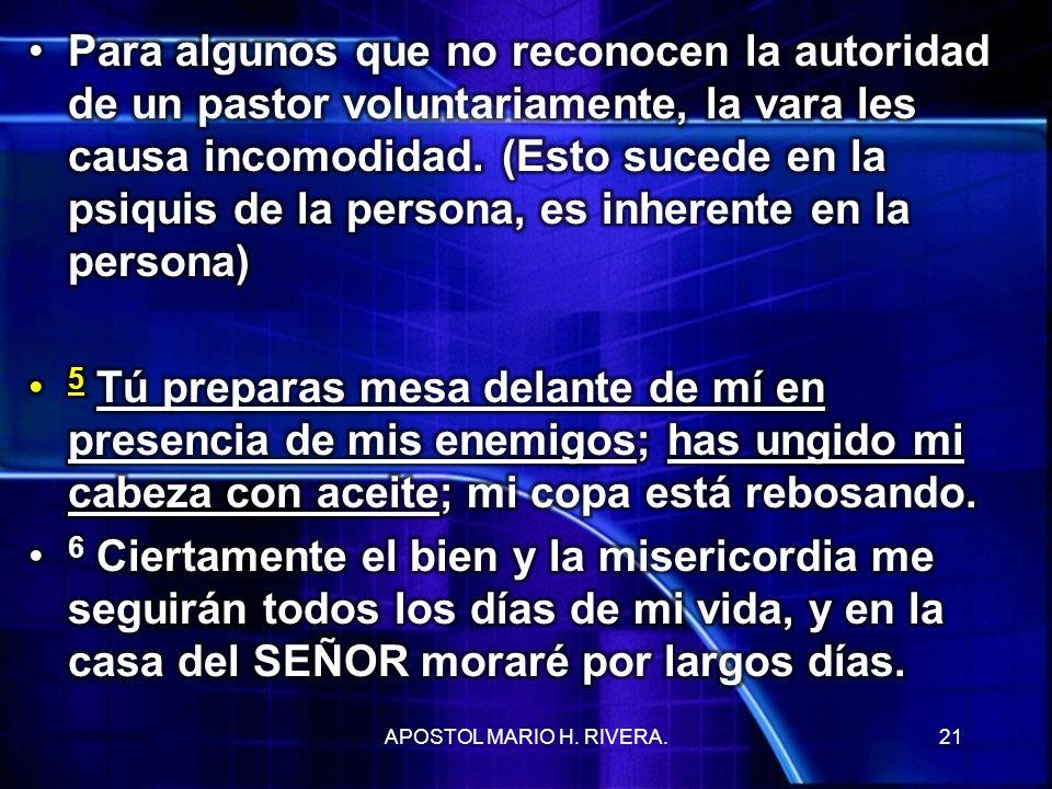 21APOSTOL MARIO H. RIVERA.