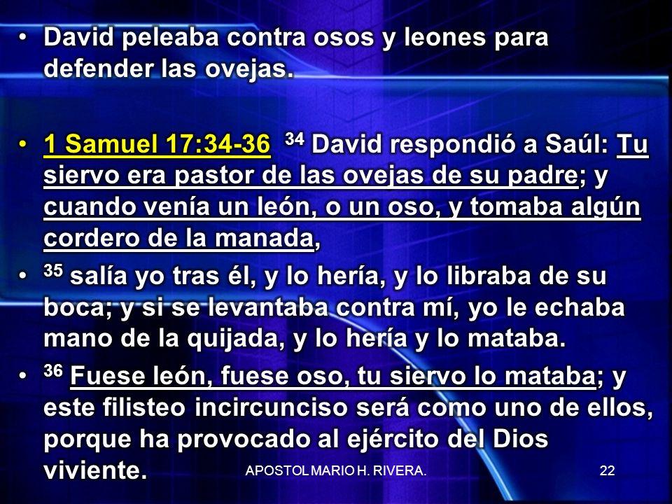 22APOSTOL MARIO H. RIVERA.