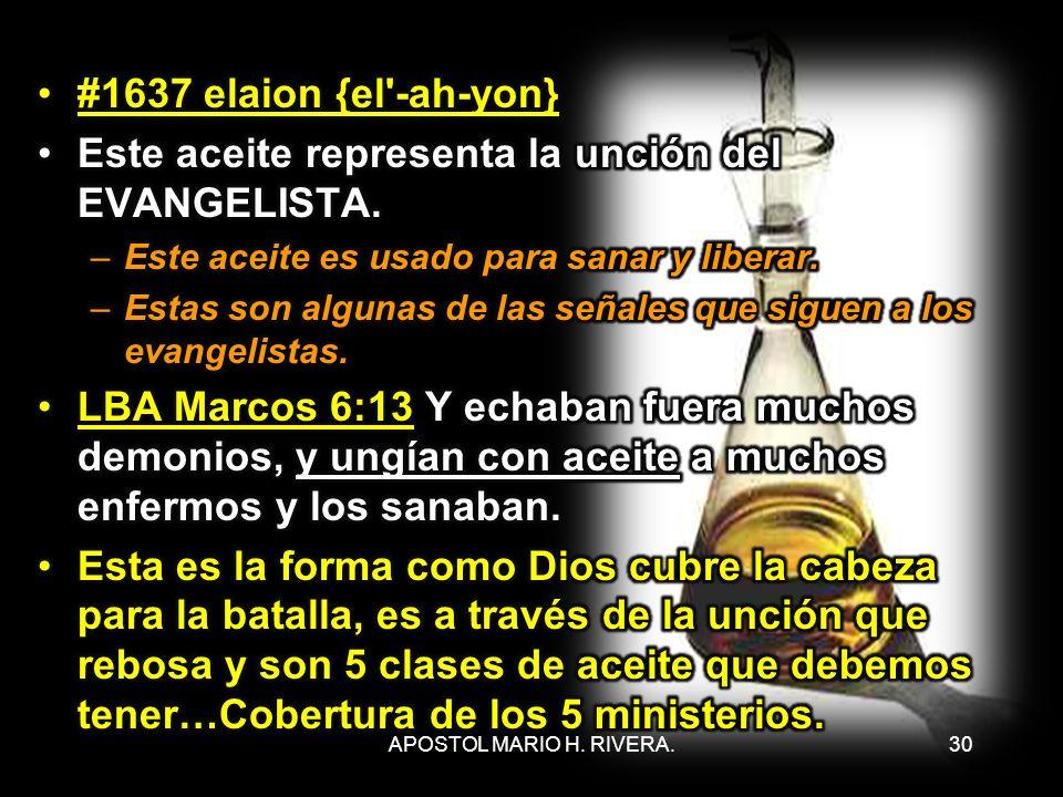 30APOSTOL MARIO H. RIVERA.