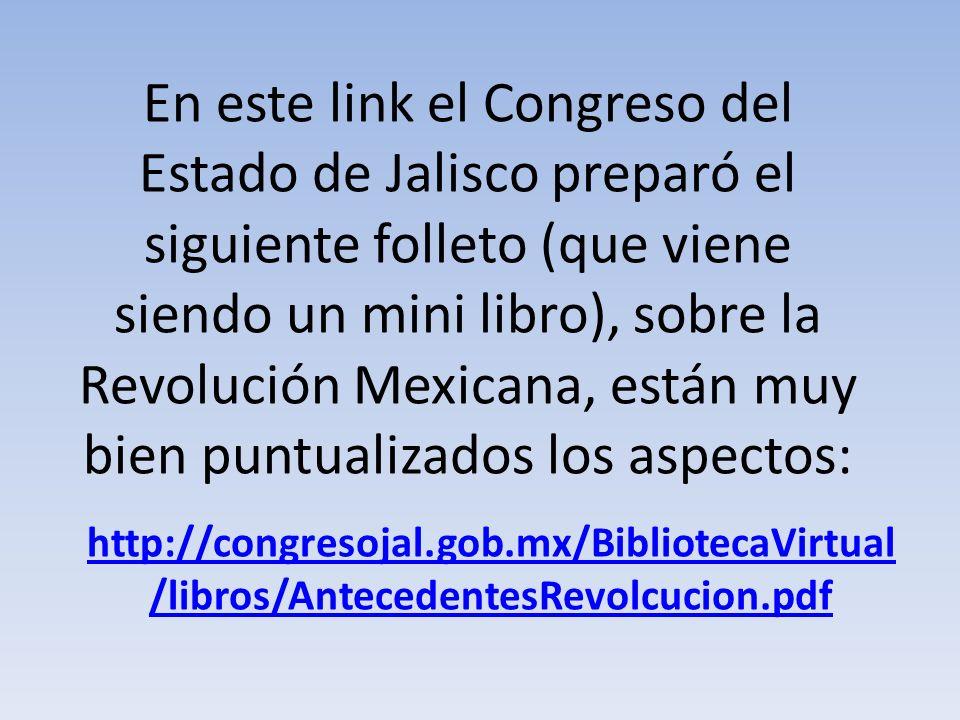 Aquí encontramos un vistazo rápido a los hechos más importantes de la Revolución Mexicana: http://usuarios.multimania.es/aime/fes o36.html