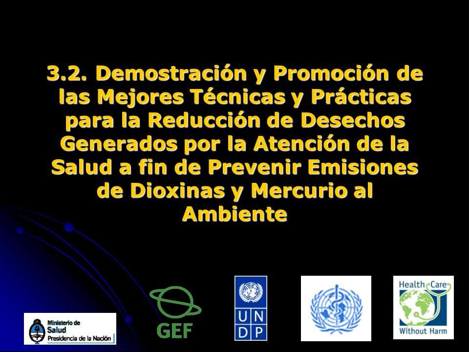 3.2. Demostración y Promoción de las Mejores Técnicas y Prácticas para la Reducción de Desechos Generados por la Atención de la Salud a fin de Preveni