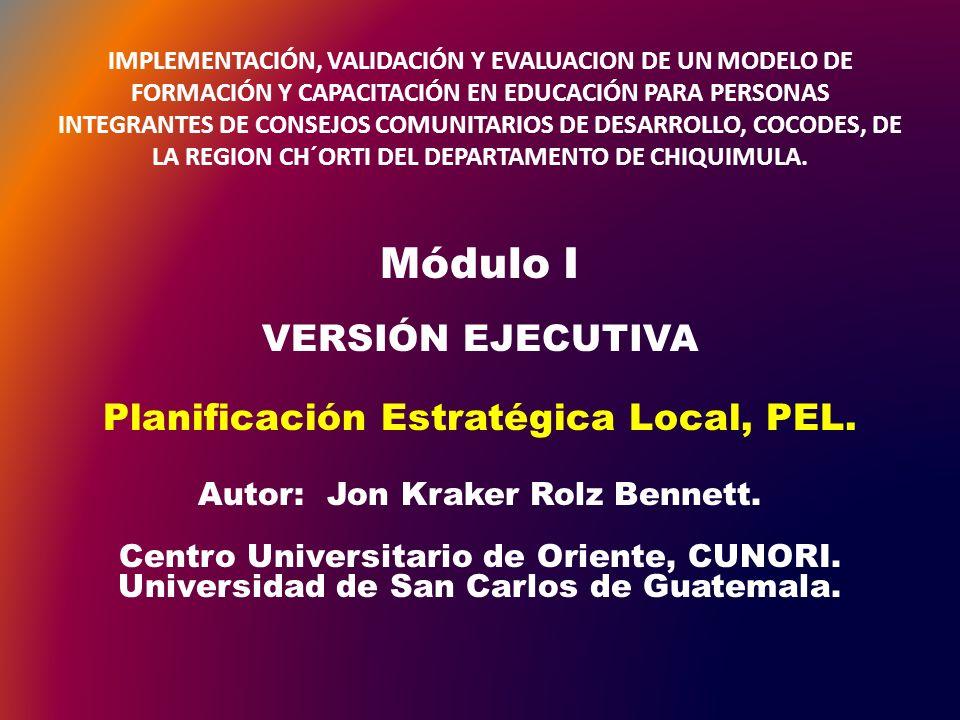 IMPLEMENTACIÓN, VALIDACIÓN Y EVALUACION DE UN MODELO DE FORMACIÓN Y CAPACITACIÓN EN EDUCACIÓN PARA PERSONAS INTEGRANTES DE CONSEJOS COMUNITARIOS DE DESARROLLO, COCODES, DE LA REGION CH´ORTI DEL DEPARTAMENTO DE CHIQUIMULA.